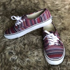 Colorful striped classic Vans